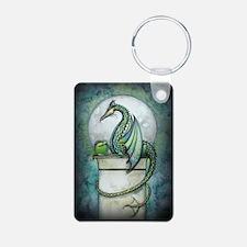 Green Dragon Fantasy Art Keychains