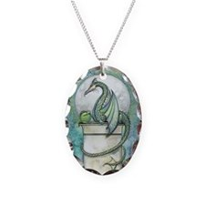 Green Dragon Fantasy Art Necklace