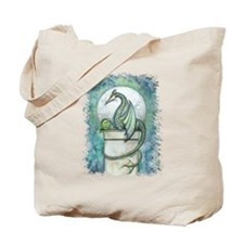 Green Dragon Fantasy Art Tote Bag