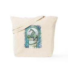 Green Dragon Fantasy Art Tote Bag