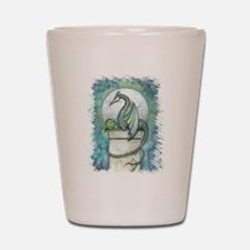 Green Dragon Fantasy Art Shot Glass