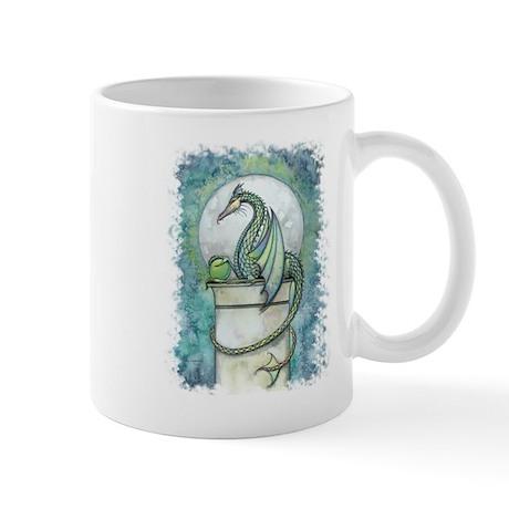 Green Dragon Fantasy Art Mug