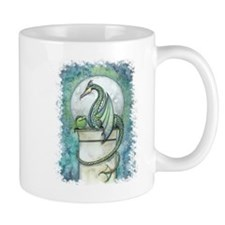 Green Dragon Fantasy Art Mug