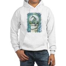Green Dragon Fantasy Art Hoodie