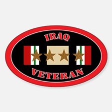 Iraq Campaign 4 Stars Sticker (Oval)