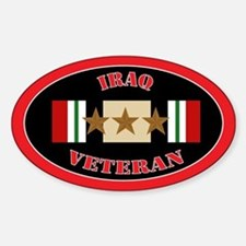 Iraq Veteran 3 Stars Sticker (Oval)