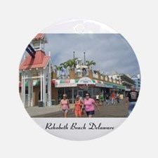 Rehoboth Beach Delaware Christmas Ornament (Round)