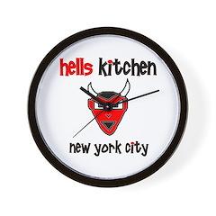 Hell's Kitchen Devil - Wall Clock