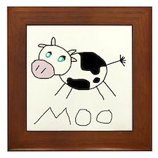 Moo Cow Framed Tile