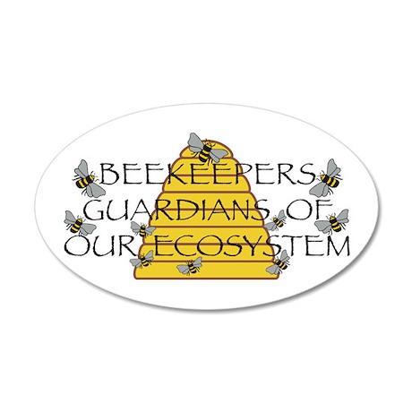 Beekeepers 20x12 Oval Wall Decal