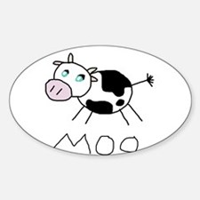 Moo Cow Oval Decal