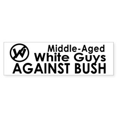 White Guys Against Bush Bumper Bumper Sticker