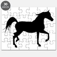 Arabian Horse Silhouette Puzzle