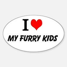 I Love my Furry Kids - Bumper Decal