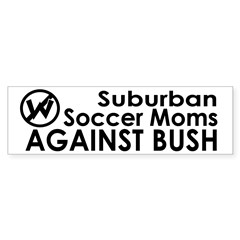 Soccer Moms Against Bush Bumper Bumper Sticker