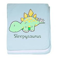 Sleepysaurus baby blanket