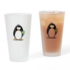 Shamrock Penguin Drinking Glass