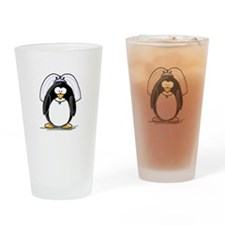 Bride penguin Drinking Glass