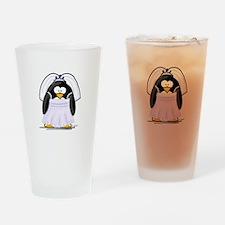Fancy Bride penguin Drinking Glass