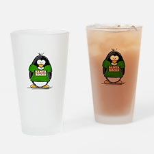 Santa Rocks Penguin Drinking Glass