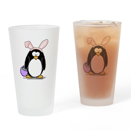 Easter penguin Drinking Glass