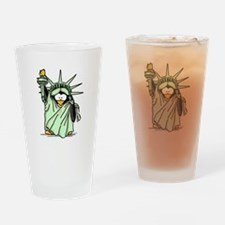 Statue of Liberty Penguin Drinking Glass