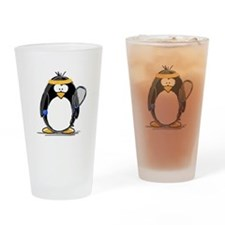 racquetball Penguin Drinking Glass
