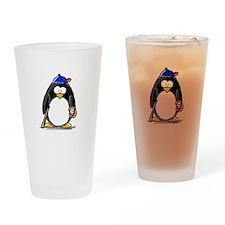 Baseball penguin Drinking Glass