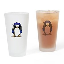 Hockey Penguin Drinking Glass