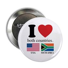 """USA-SOUTH AFRICA 2.25"""" Button (10 pack)"""