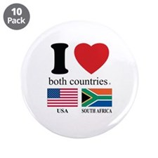 "USA-SOUTH AFRICA 3.5"" Button (10 pack)"