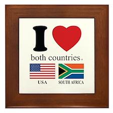USA-SOUTH AFRICA Framed Tile