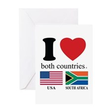 USA-SOUTH AFRICA Greeting Card
