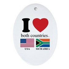 USA-SOUTH AFRICA Ornament (Oval)