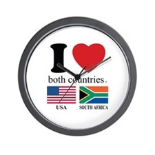 USA-SOUTH AFRICA Wall Clock