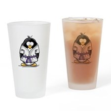 Martial Arts purple belt peng Drinking Glass