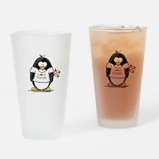 Florida Penguin Drinking Glass