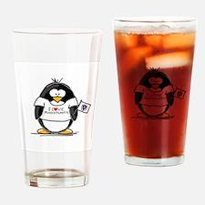 Massachusetts Penguin Drinking Glass