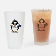 North Dakota Penguin Drinking Glass