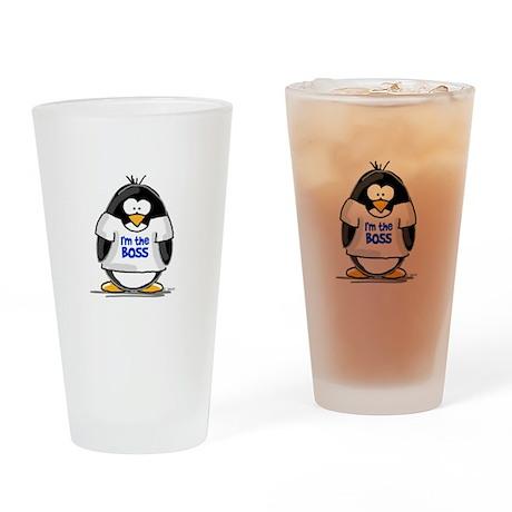 I'm the Boss Penguin Drinking Glass