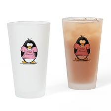 Proud Momma penguin Drinking Glass