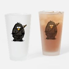 Martial Arts ninja penguin Drinking Glass