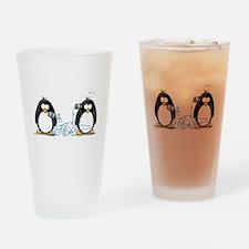 Communication - Penguin Humor Drinking Glass