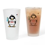 linux Penguin Drinking Glass