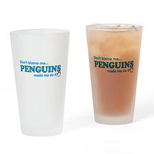 Blame Penguins Drinking Glass