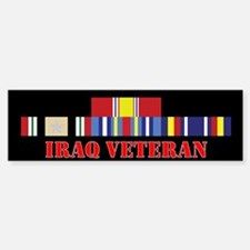 Iraq Veteran 5 Star Bumper Bumper Sticker