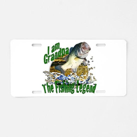 Grandpa the Bass fishing legend Aluminum License P