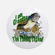 Grandpa the Bass fishing legend Ornament (Round)