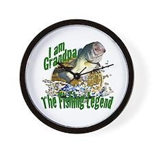 Grandpa the Bass fishing legend Wall Clock