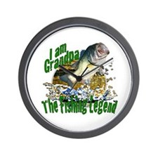 Grandpa the Bass fishing legend Wall Clock
